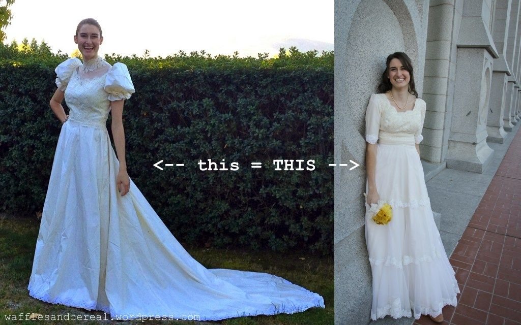 Old Bridal Gowns Redone