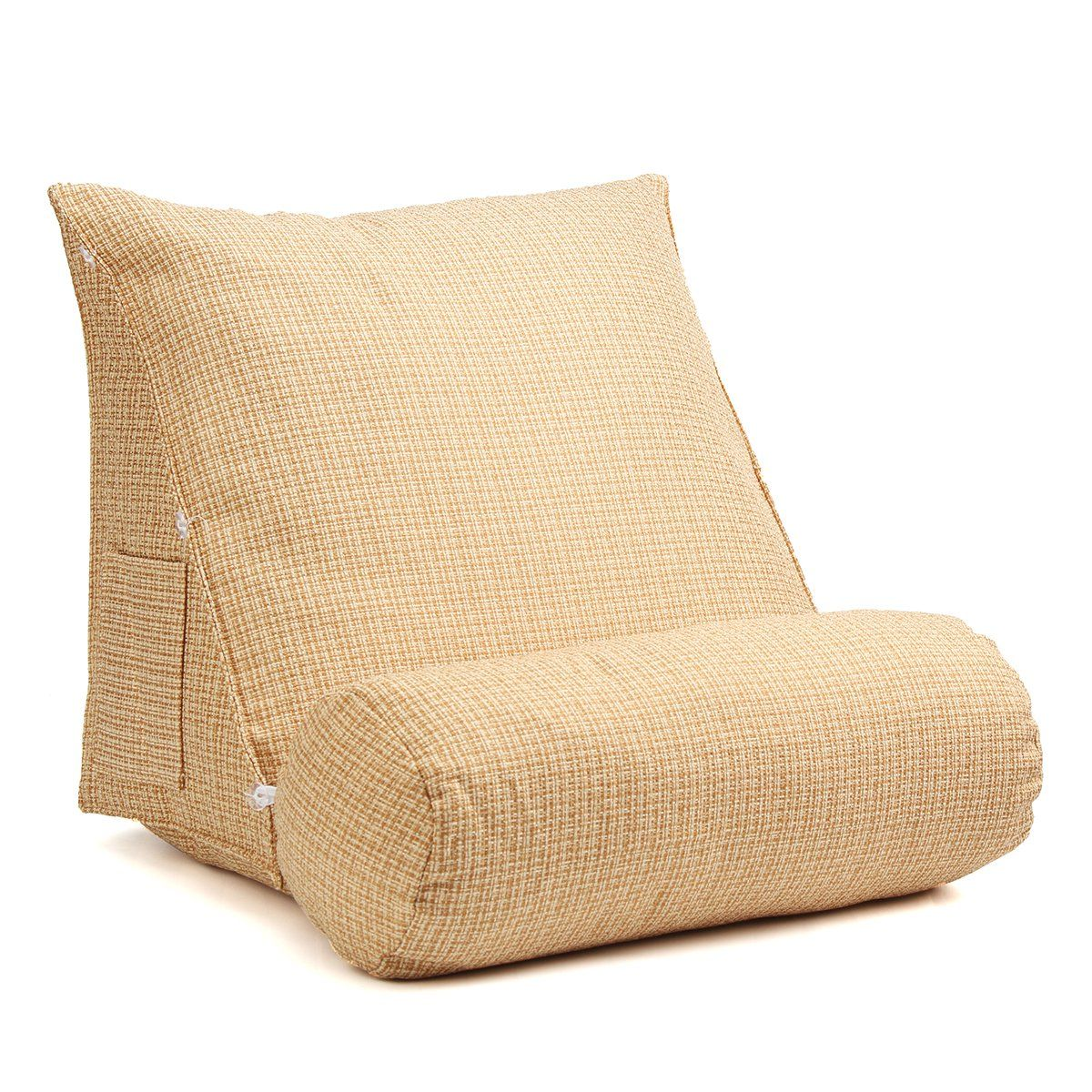 Adjustable back wedge zipper cushion pillow sofa bed