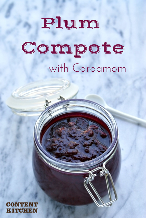 Plum Compote with Cardamom | Content Kitchen