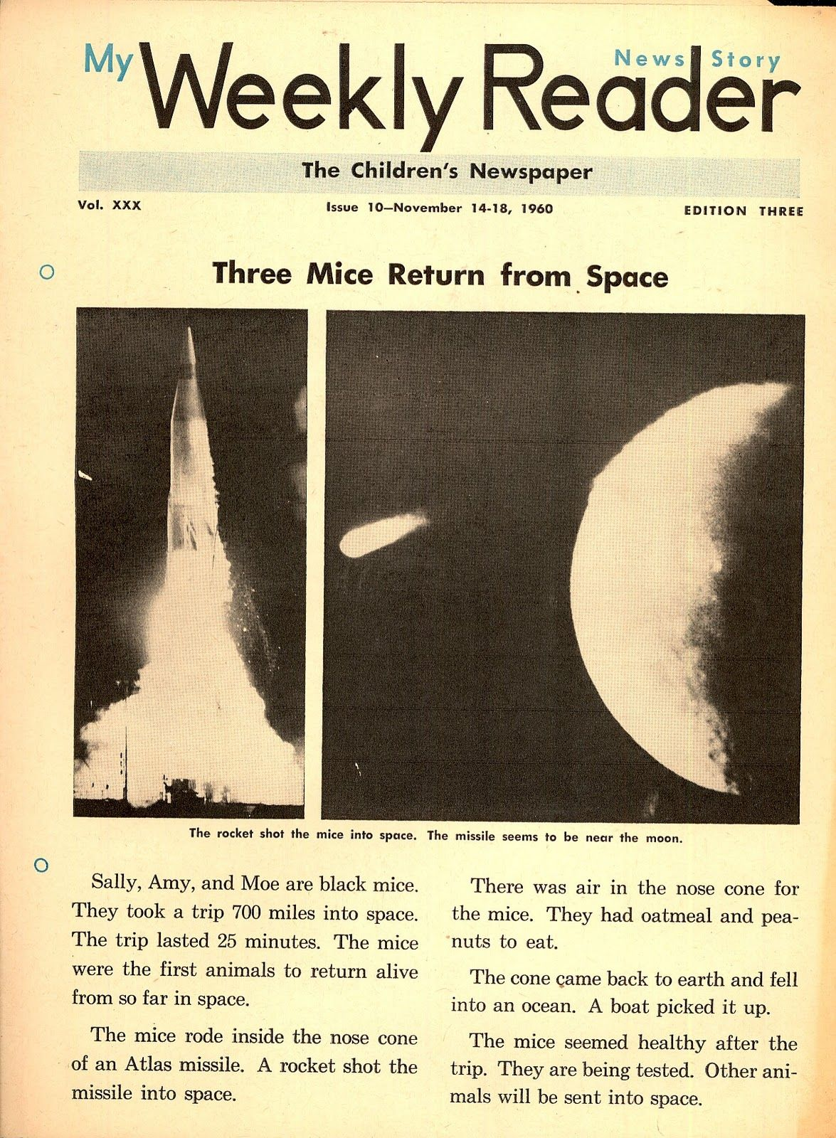 My weekly reader 19601966 readers space books