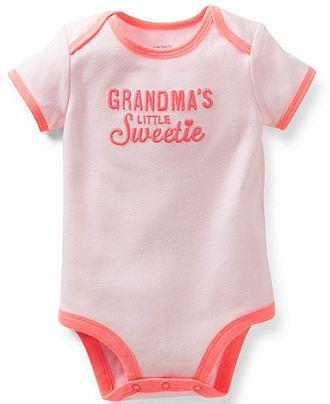 925a380897 Carter's Baby Girls' Grandma's Little Sweetie Bodysuit - Kids Baby Girl (0-24  months) - Macy's
