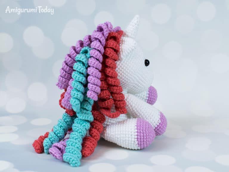 Cómo hacer adorable unicornio amigurumi paso a paso | Amigurumi ... | 576x768