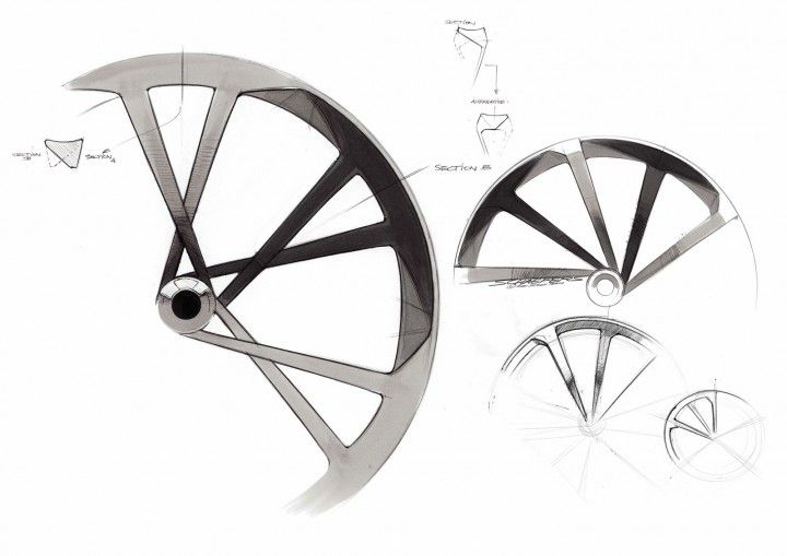 Audi e-bike Worthersee - Wheel Design Sketch