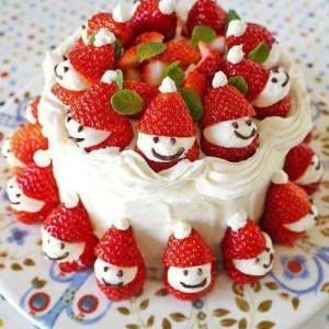 Ingredients Vanilla frosted cake 1 lb large strawberries 1 (8 ounce) package cream cheese, softened