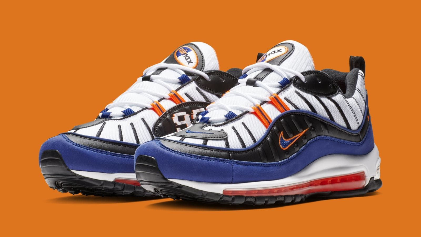 4f50610cb2 Nike Air Max 98  White Deep Royal Blue-Total Orange-Black  CD1536-100  Release Date