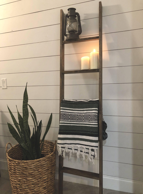 Six foot shelf ladder / 6 ft blanket ladder / rustic decor