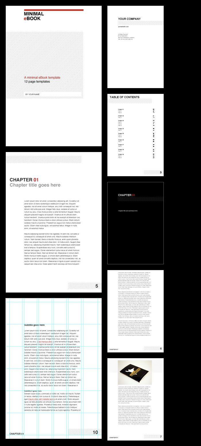 Minimal eBook Template for GraphicRiverhttp://graphicriver.net/item ...