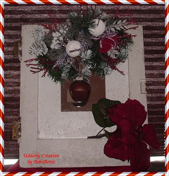 CLEARANCE Vintage Door Makeover Christmas Decor by BobsBetts, $1000