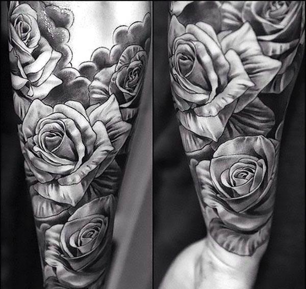 Black And Gray Tattoo For Men Tattoo Idea Rose Tattoo Sleeve Rose Tattoos For Men Tattoos For Guys
