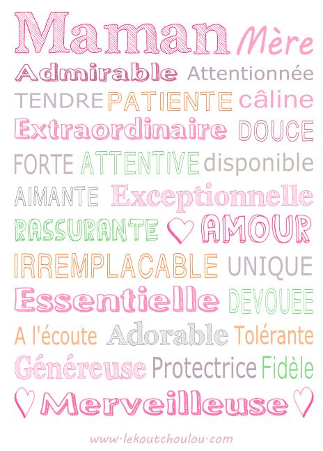 Tableau Maman Frases Cadeau Fête Des Mères Idée Cadeau
