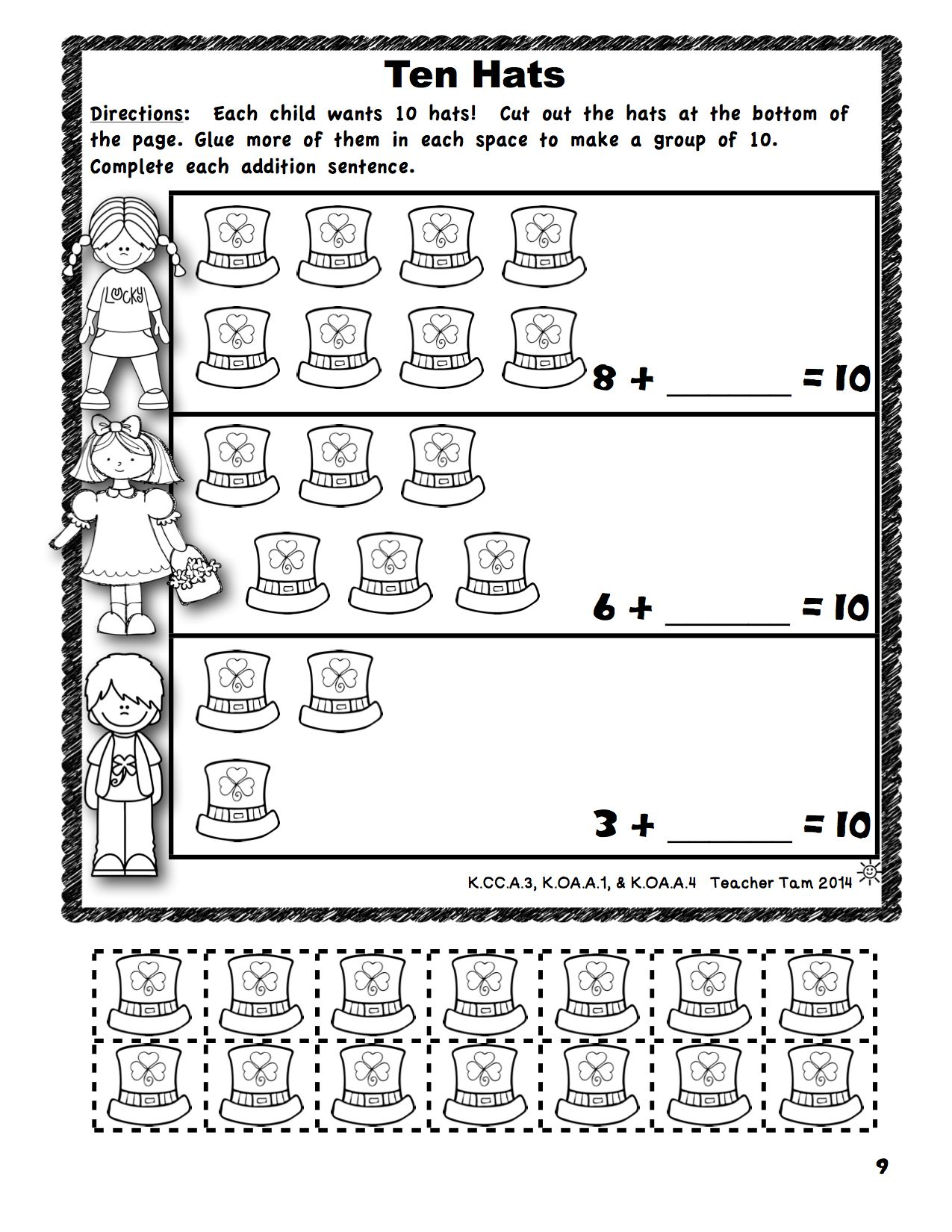 St Patrick S Day Math And Literacy Activities