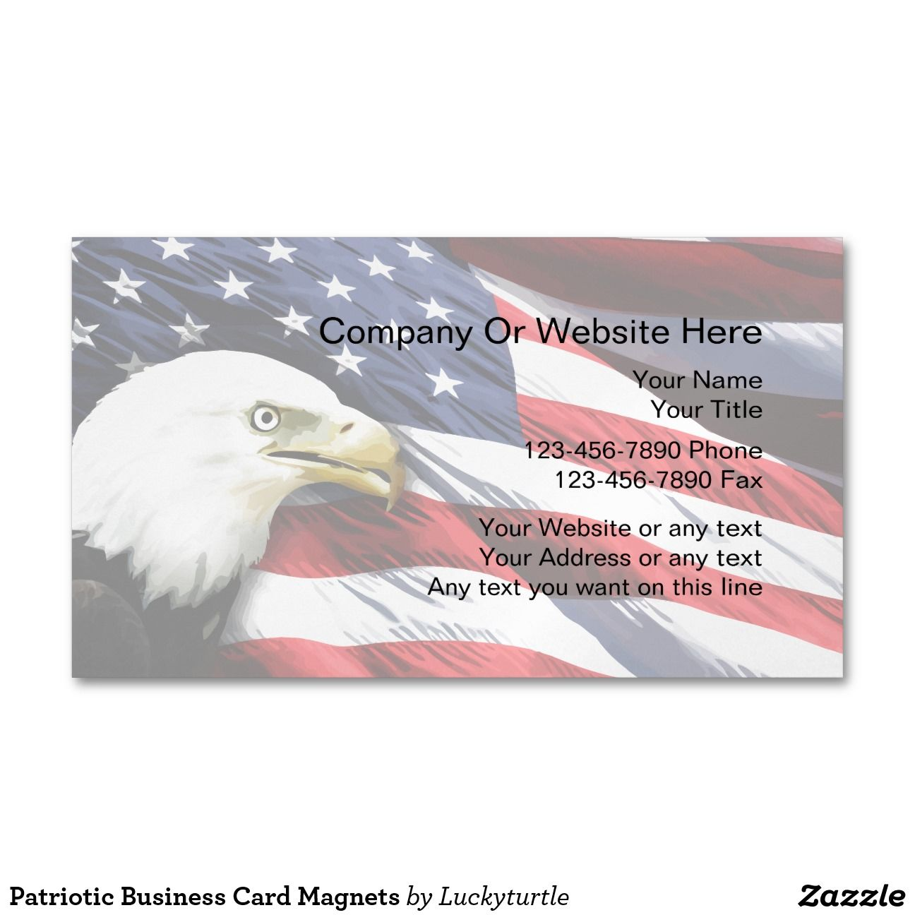 Patriotic Business Card Magnets | Business cards, Magnetic ...