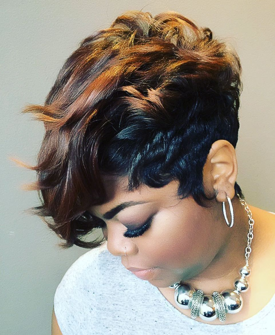 60 Great Short Hairstyles for Black Women in 2020 | Short weave hairstyles, Stylish hair, Short wigs
