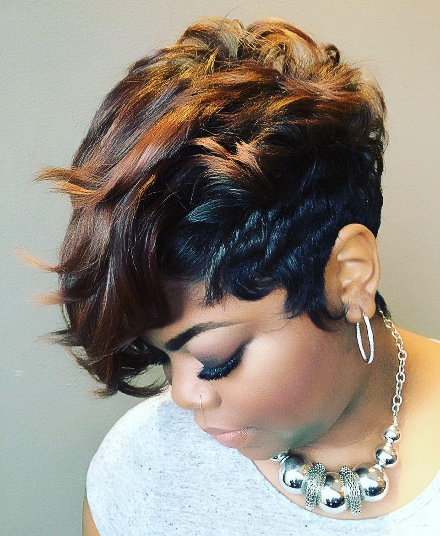 Short Hair Cut Styles Black