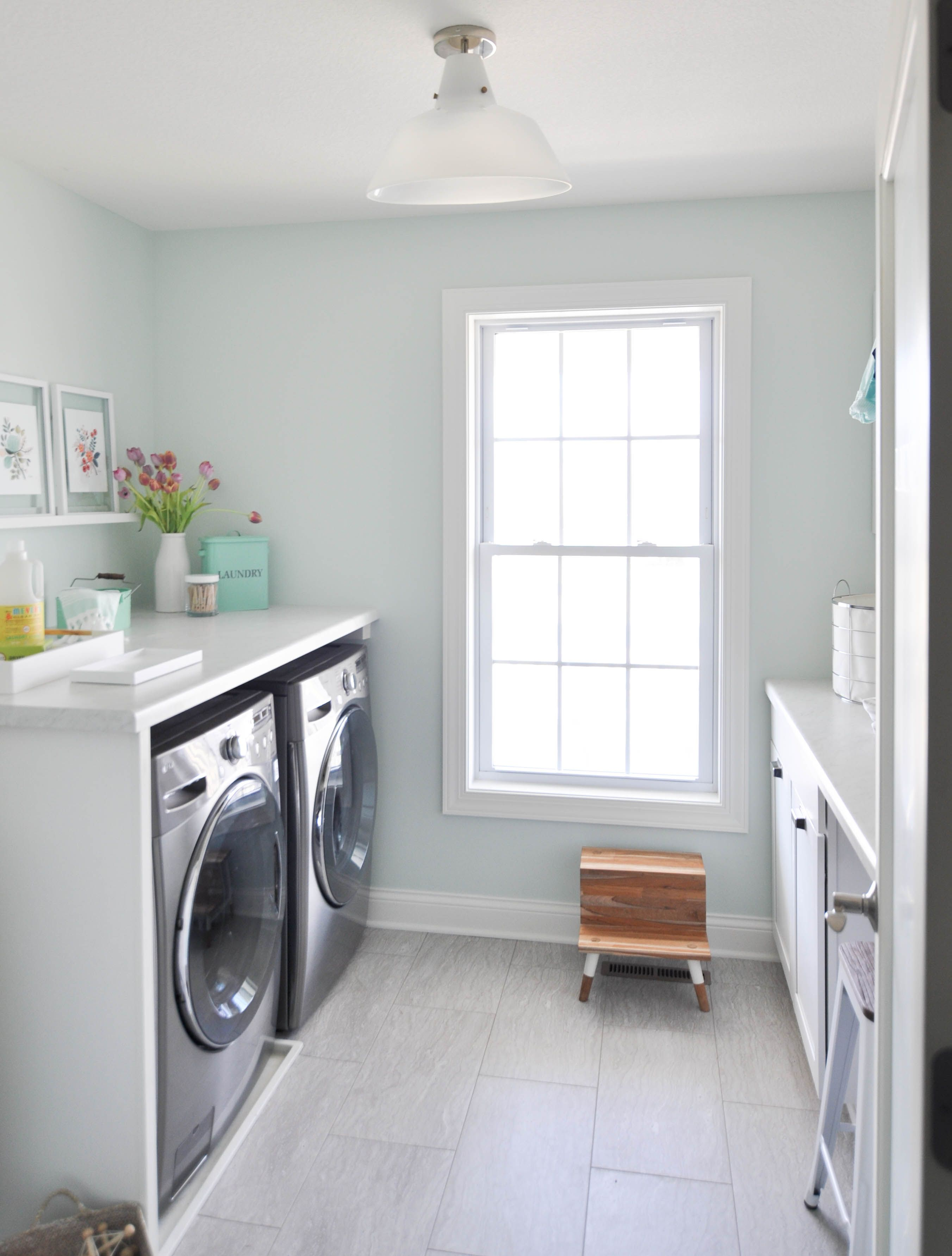 laundry room ideas and inspiration a bright white and on paint for laundry room floor ideas images id=85277