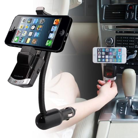 Bluetooth Handsfree FM Transmitter Car Kit Charger MP3 Player Phone Mount Holder