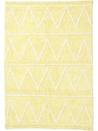 Lorena Canals Teppiche Kinderzimmer Kinderteppich Hippy Gelb - kinder teppich beige gelb