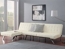 how to make your own cheap sectional sofa from a convertible futon a chaise lounge how to make your own cheap sectional sofa from a convertible futon      rh   pinterest