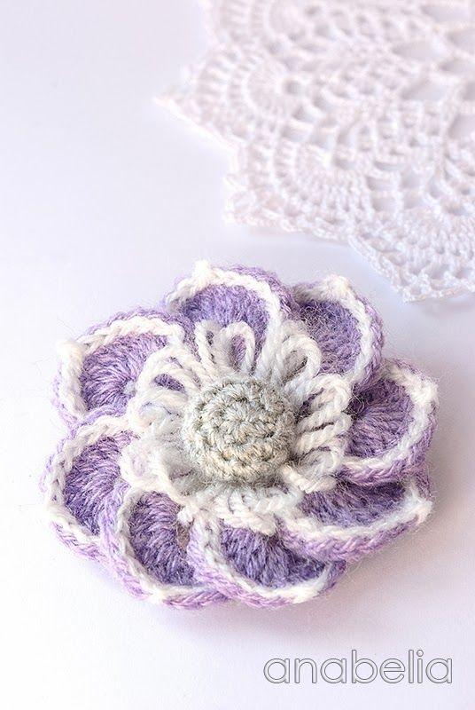 Lily crochet brooch by Anabelia | вязание | Pinterest | Punto de ...