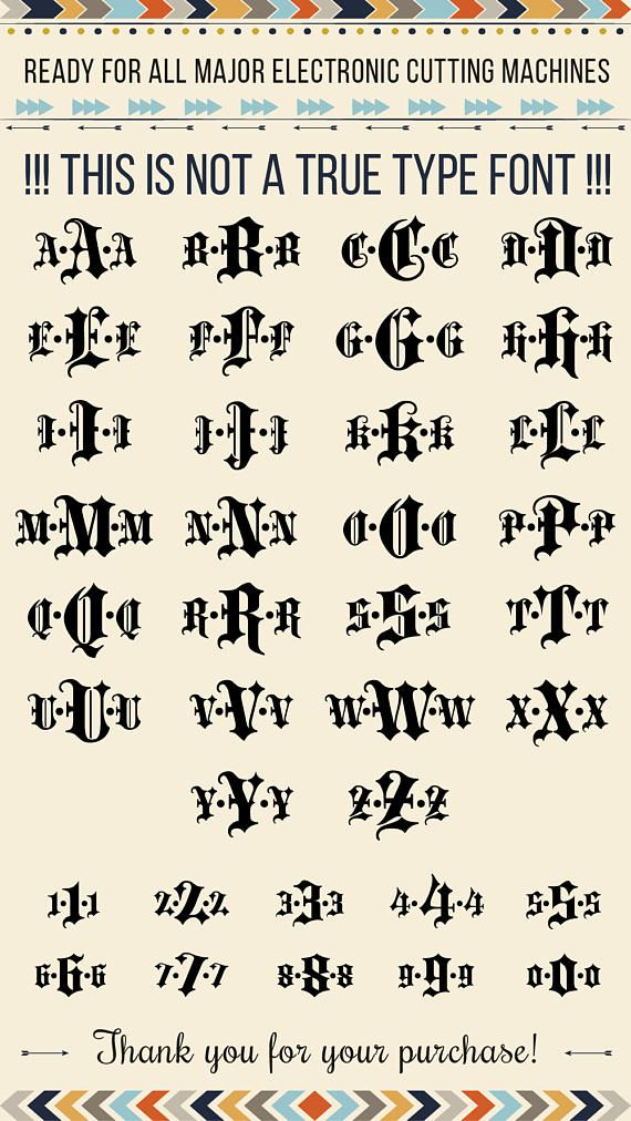 Gothic Monogram Font Svg To Download Goth Old English Letters And Numbers For Crafters Projects Sure Work With Your Cutting Machine SVG