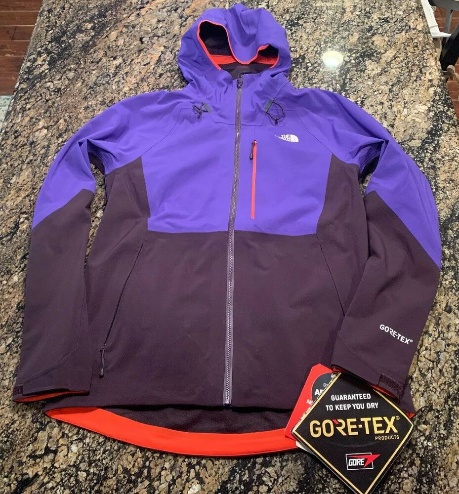 $249 North Face Apex Flex GORETEX 2.0 Hooded Jacket Blue