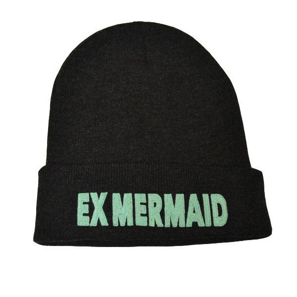 BACK IN STOCK! Ex Mermaids Dark Grey Beanie: http://shop.nylonmag.com/collections/whats-new/products/ex-mermaids-dark-grey-beanie-1 #NYLONshop