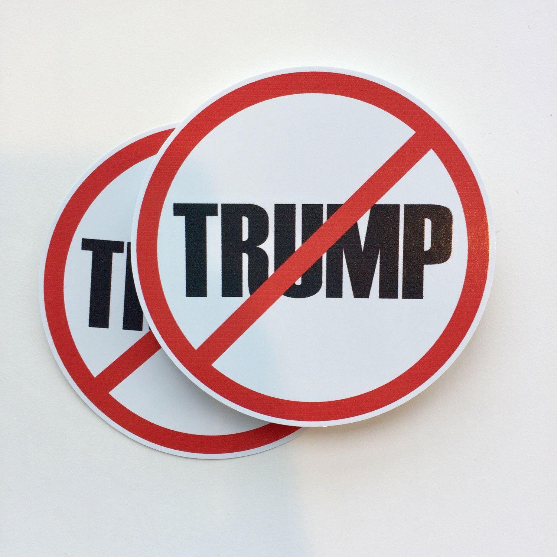 Anti trump vinyl bumper sticker sticker