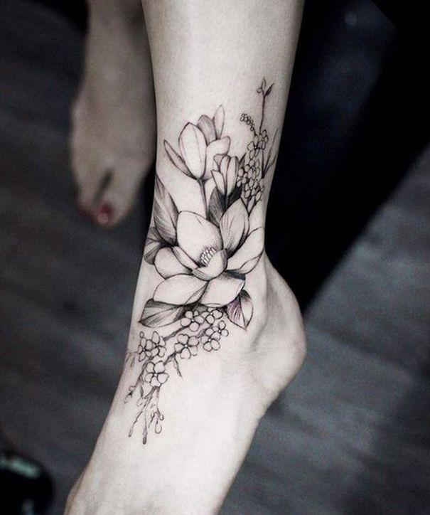 Magnolia Tattoo On Foot Magnolia Flower Tattoo Ideas Magnolia