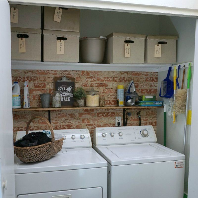 How To Design A Simple Laundry Closet Makeover On A 100 Budget