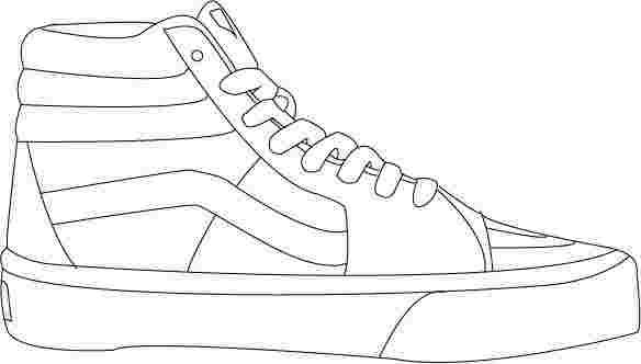 Coloring Pages Of Vans Shoes Sneakers Drawing Vans Shoes Sneakers Illustration