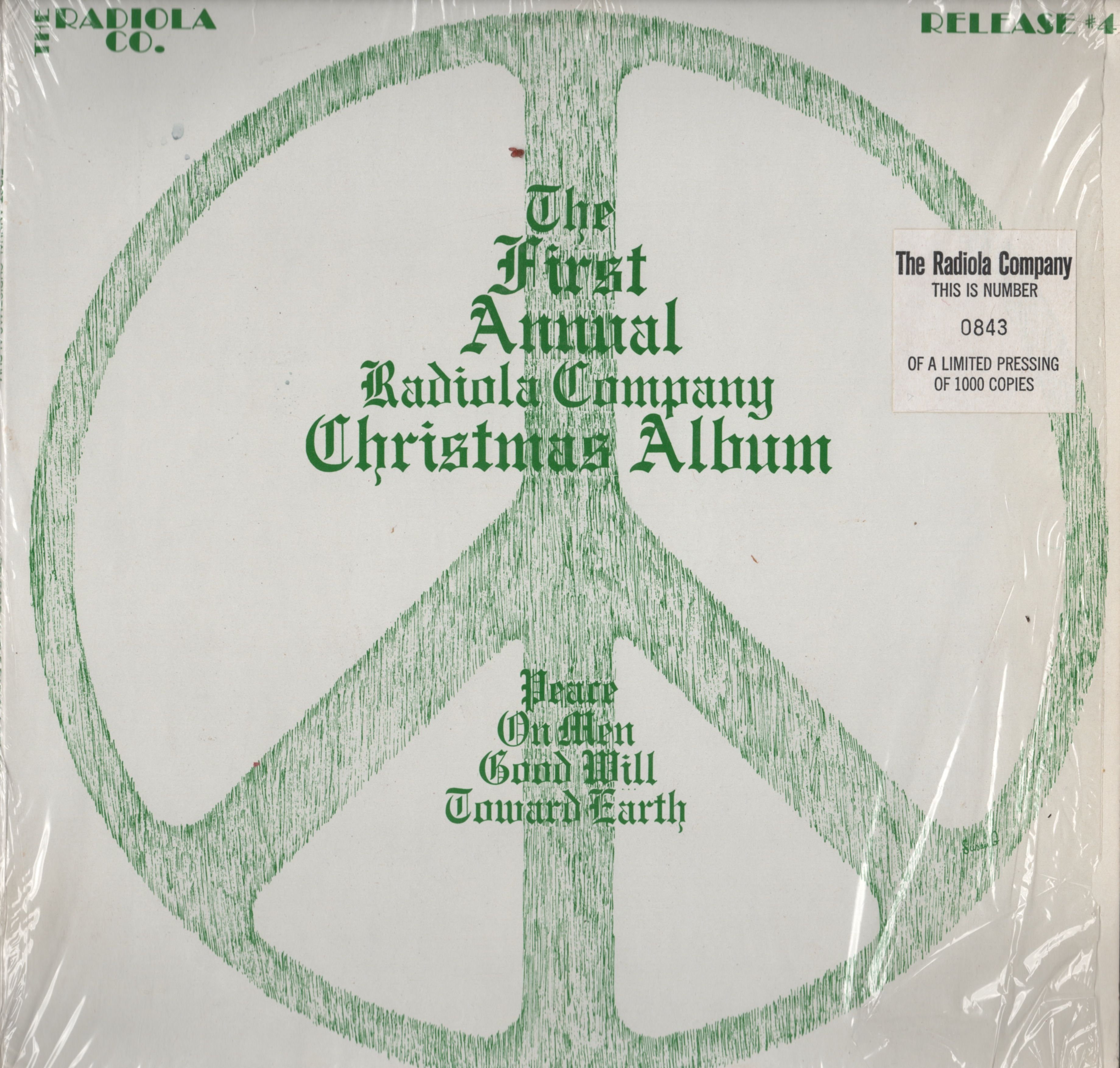 The First Annual Radiola Company Christmas Album, First Pressing, November, 1970, #843 out of 1000. Side A: The Amos 'n Andy Christmas Show, December 24, 1950 and Side B: Truth or Consequences, December 24, 1947