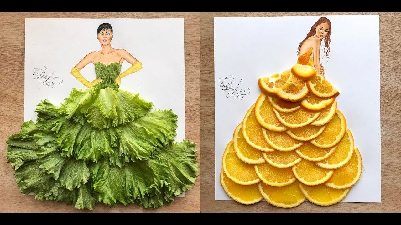 100 Kitchen And Fruits Dress Fashion Illustration By Edgar Artis Creative Ideas Fruit Dresses Fashion Fashion Illustration Dresses Fashion Illustration