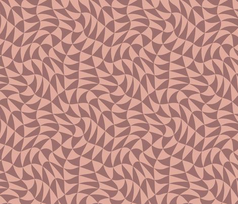 triangle swirl in terra cotta fabric by weavingmajor on Spoonflower - custom…