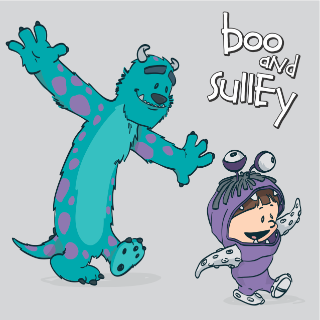 48d2c45d4 Monsters Inc - Boo and Sulley. Boo Sullivan Calvin Hobbes by marinpoppins