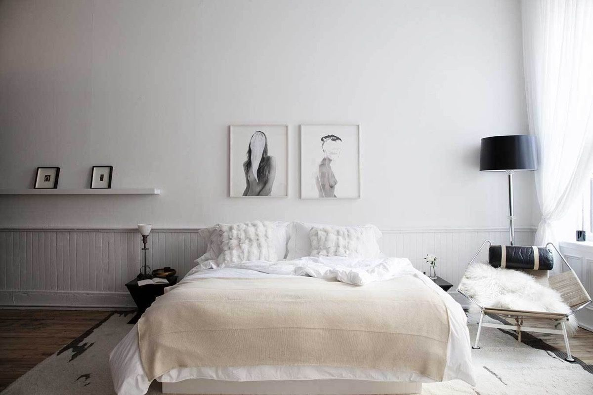 Scandinavian Bedroom Design Dominant With White Color Theme ...