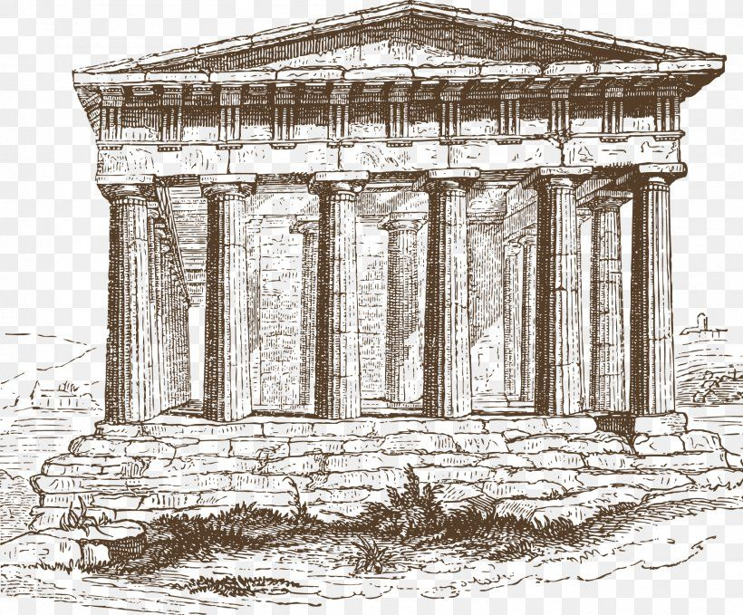 Vector Ancient Greece Old Buildings Temple Of Hephaestus Ancient Greece Doric Order Ionic Orde Ancient Greece Ancient Greek Architecture Ancient Architecture