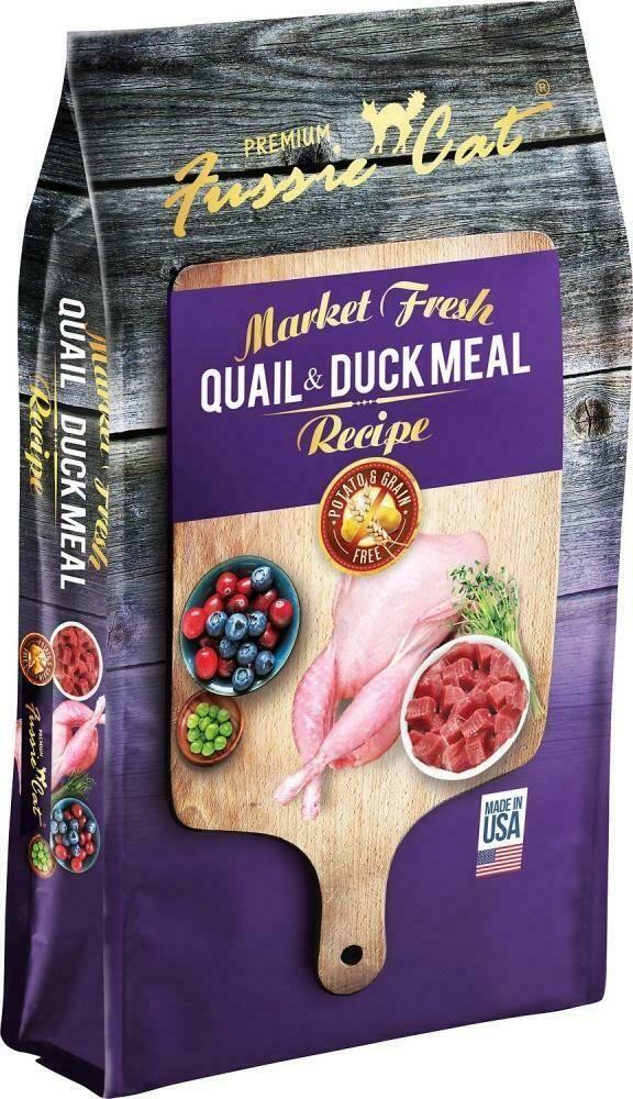 Fussie Cat Market Fresh Grain Free Quail & Duck Meal Cat