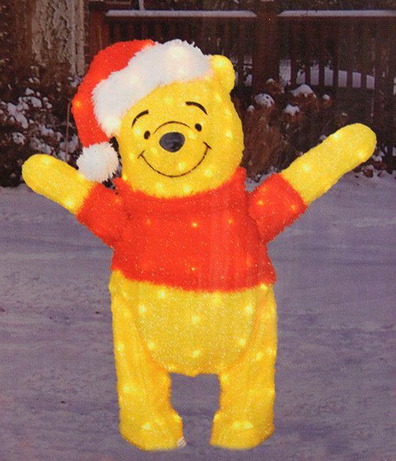 32 pre lit disney winnie the pooh soft tinsel christmas yard art decoration