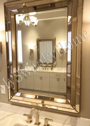 Amazon Com Large Art Deco Designer Wall Mirror Hollywood Glass