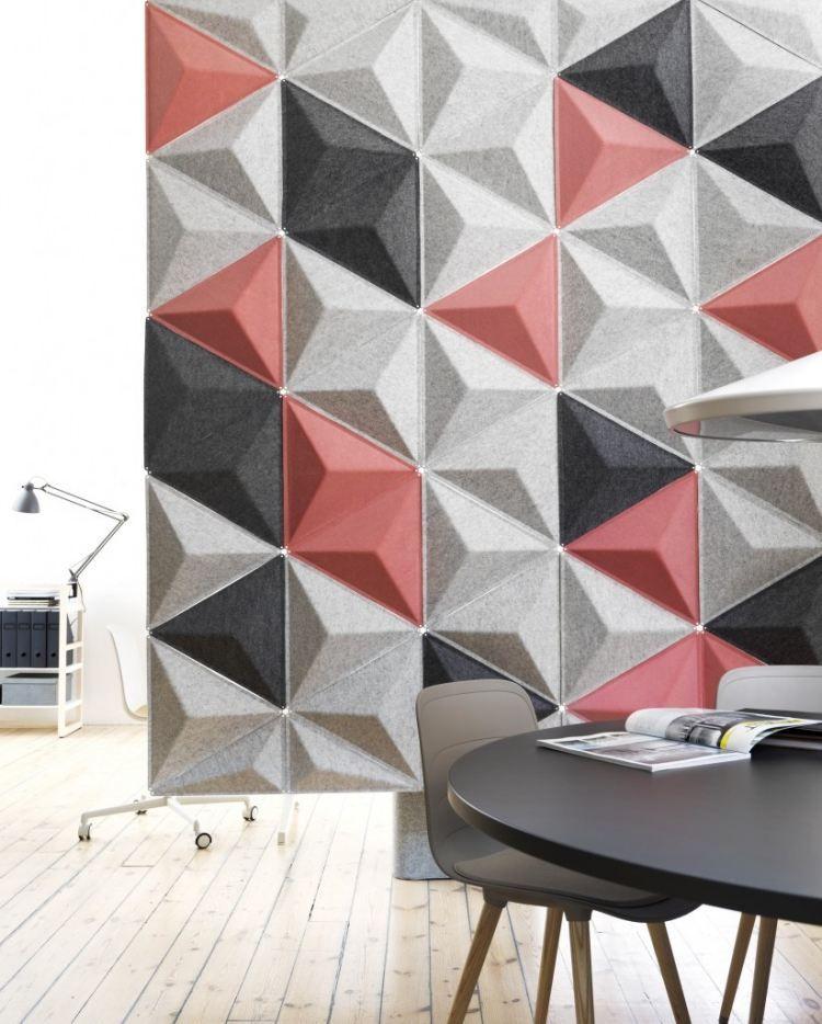 Aircone Schallabsorber in rosa, grau und schwarz TNM Pinterest - design schallabsorber trennwande