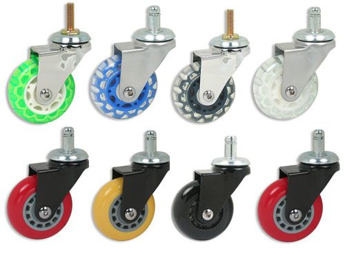 Skate Wheel Casters Office Chairs Furniture Black Wheels