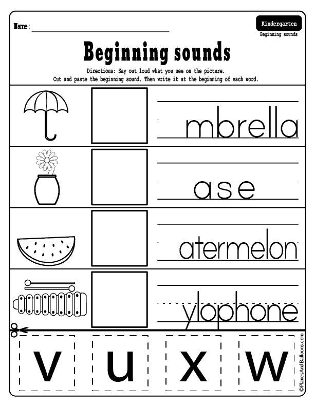 beginning sounds cut and paste worksheets preschool literacy activities kindergarten. Black Bedroom Furniture Sets. Home Design Ideas