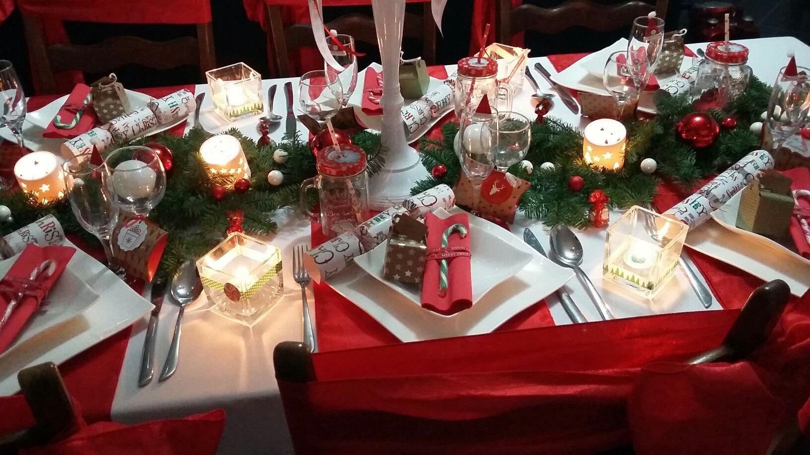 Decoration De Table Pour Noel Rouge Et Or Valoblogi Com