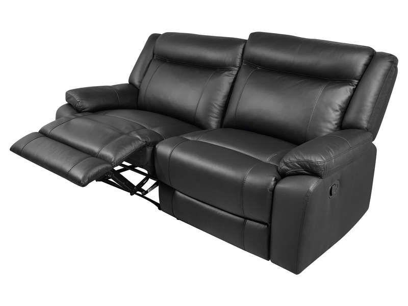 le dernier 8ba30 10f58 Canapé relaxation manuel 3 places FARGO pas cher en tissu ...