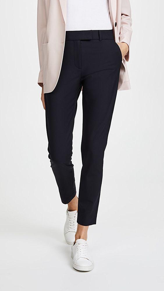 Chic Pantalones De Vestir Negros Moda Para Mujer Casual Moda Ropa De Trabajo