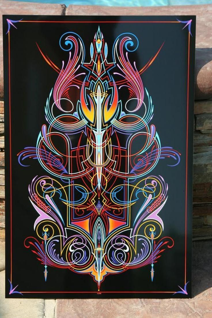 Pinhead lounge pinstriping archive pinstriping and hand lettering a beautiful black panel with popping colorful pinstripe the colors line work scrolls and daggers are outstanding publicscrutiny Image collections