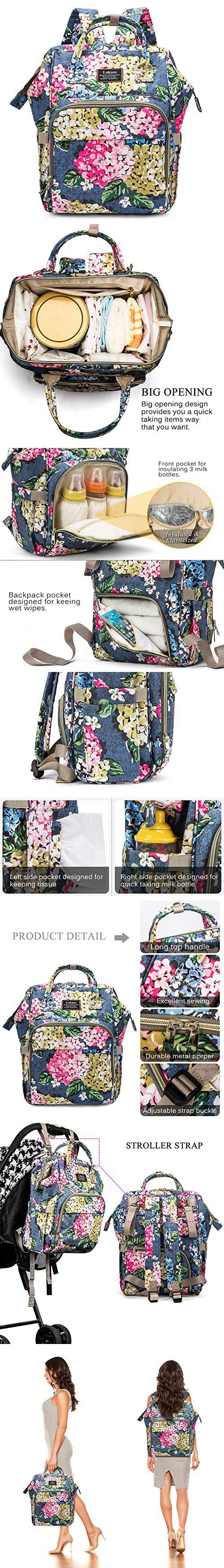 Coolbell Baby Diaper Bag Backpack Water Resistant Multi Functional