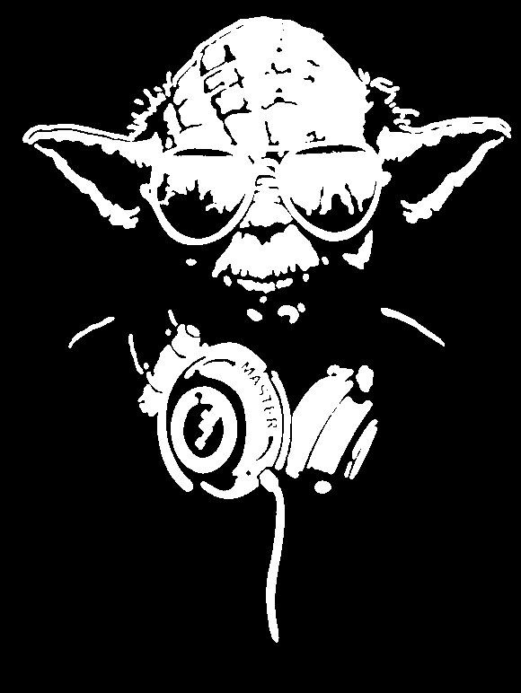 Spectacular portrait Stencils for Painting Star Wars YODA headphones tee by MaidenMoonApothecary on Etsy