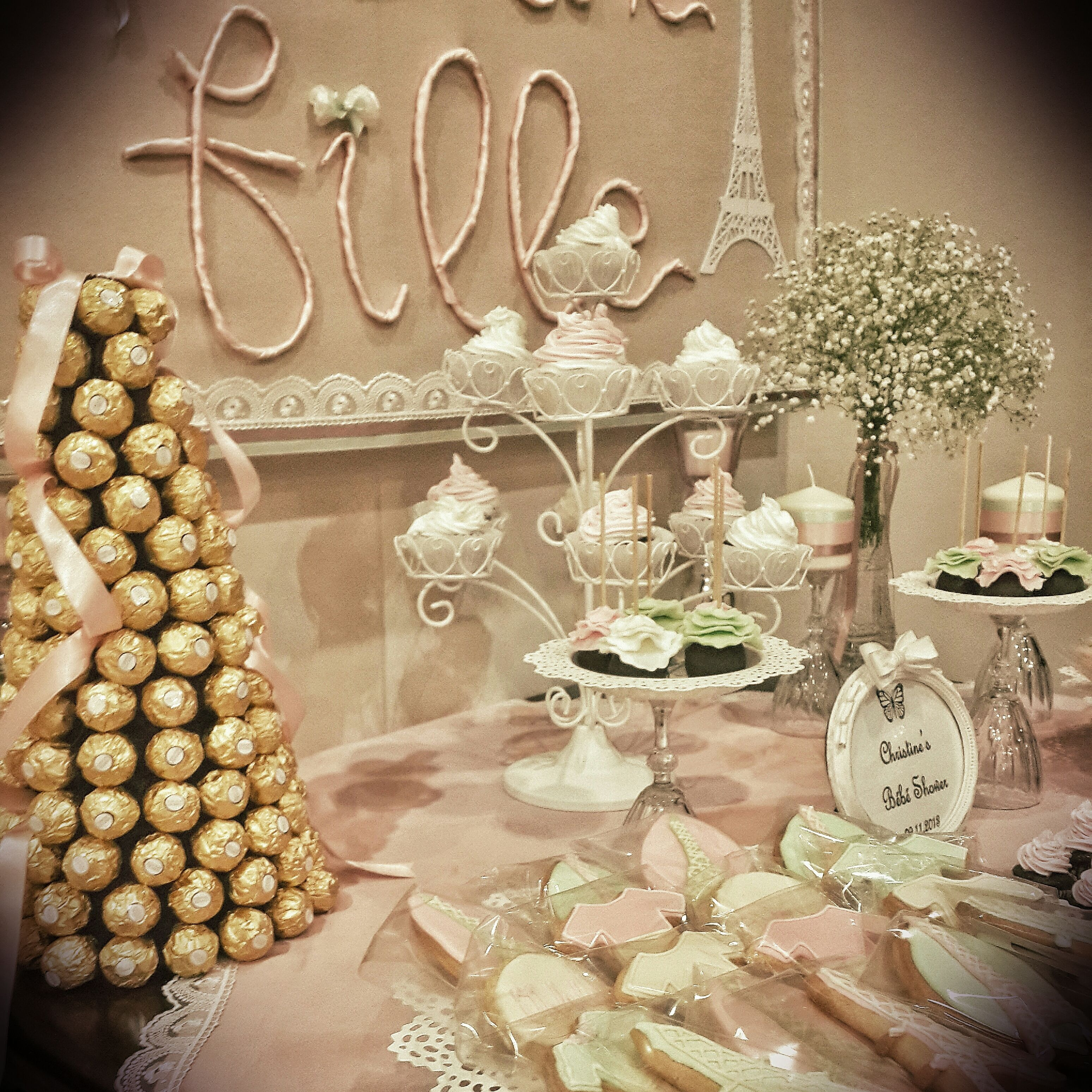 French Themed Romantic Baby Shower Babyshower Ferrerotower We