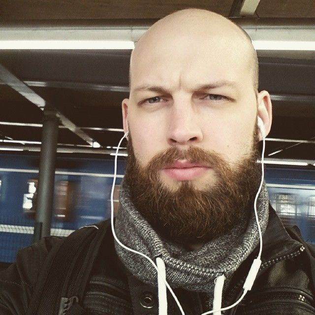 8045f64301 bald selfie beard on Instagram